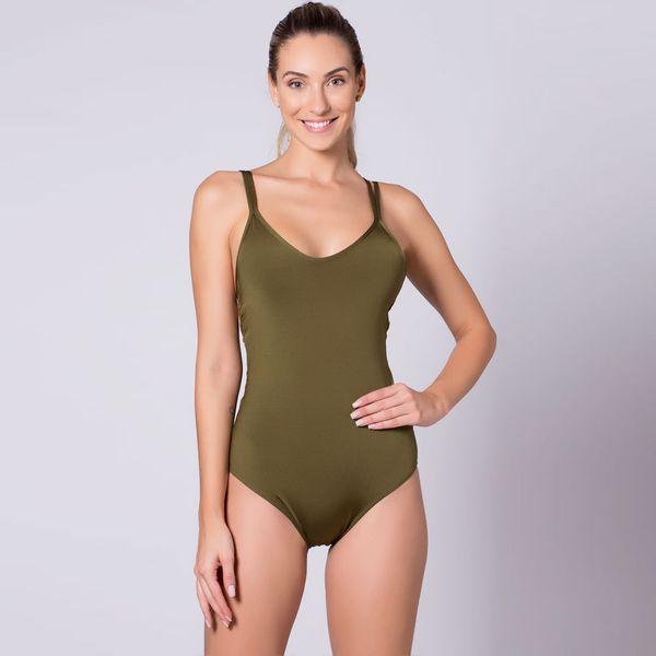 Body Verde com Tiras nas Costas