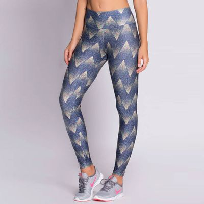 Legging Estampada Chevron Glitter