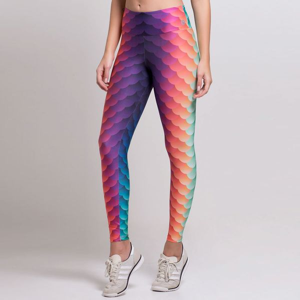 Legging Estampada Sereia Colorida