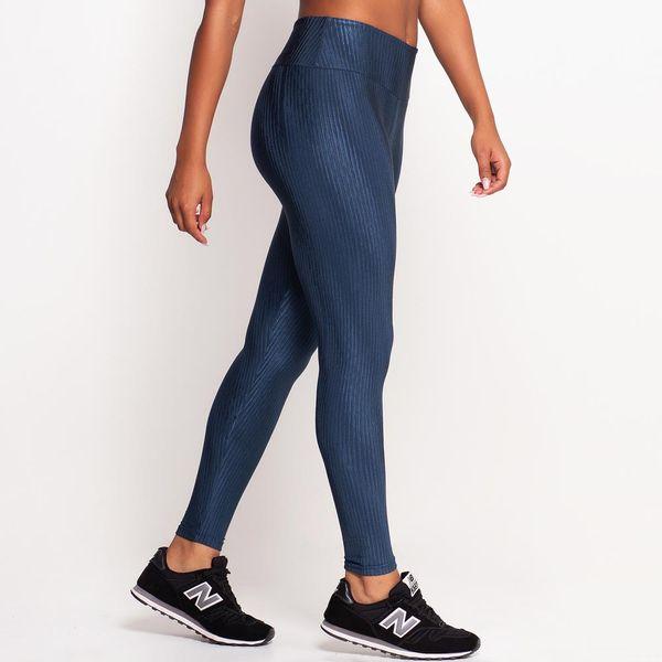 Legging de Poliamida Texturizada Azul