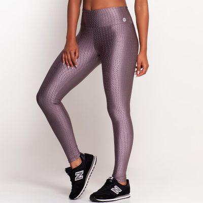 Calça Legging Texturiza Prata