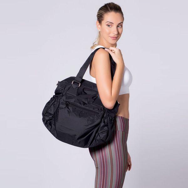 Bolsa Fitness com Bolso Lateral - PRETA