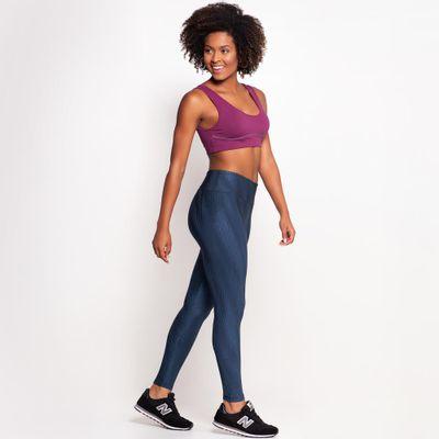 Look Legging Textura + Top com Bojo