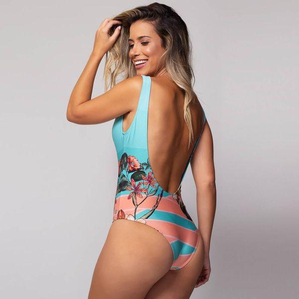 Body com Bojo Estampa Beija-Flor