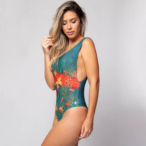 Body Cavado Estampado Florir