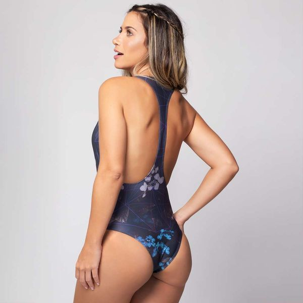 Body Nadador Estampa Flor