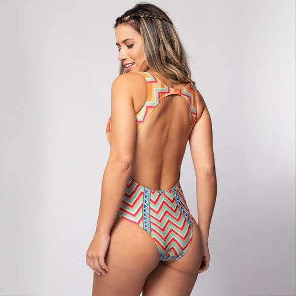 Body Recorte nas Costas Estampa Rio