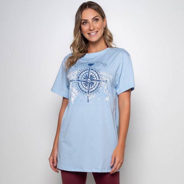 Maxi T-Shirt Rosa dos Ventos