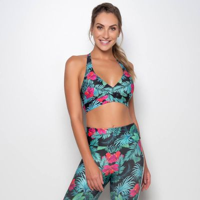 Top Estampado Hibiscus