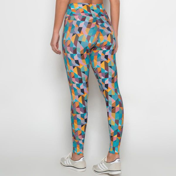 Legging de Poliamida Light Abstrato