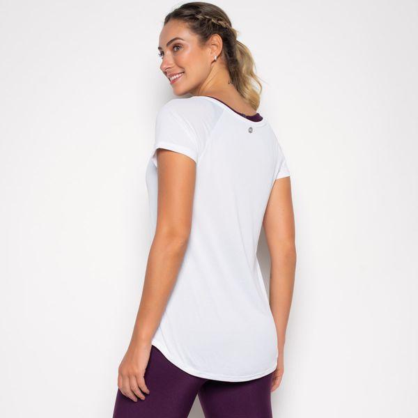 Blusa Alongada Branca de Poliamida