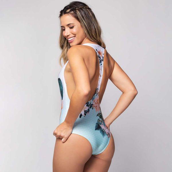 Body Maiô Nadador Estampa Calmaria