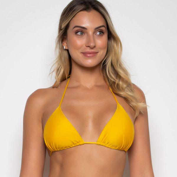 Top Cortininha Amarelo com Bojo