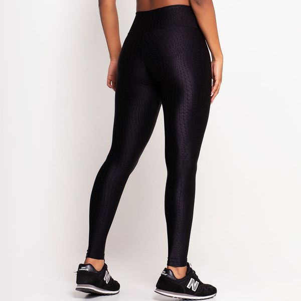 Calça Legging Texturizada Preta