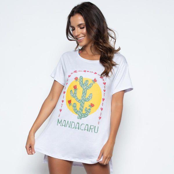 Blusa Alongada com Fenda Mandacarú