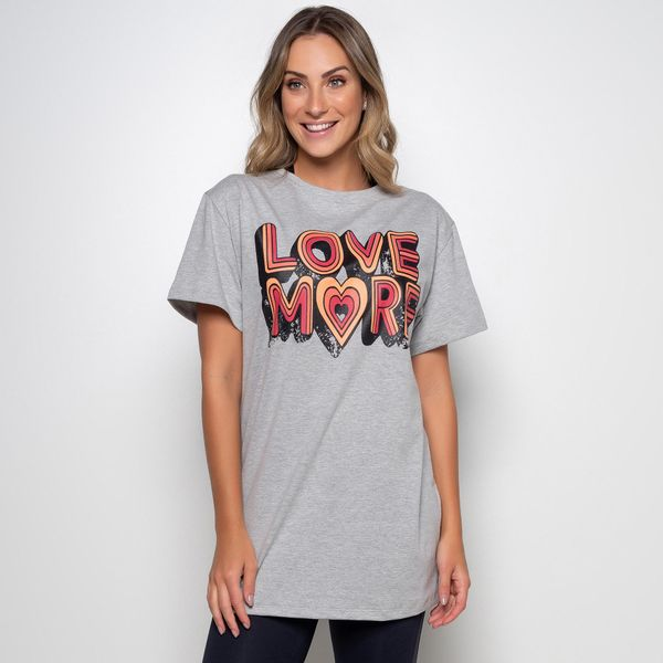 Maxi T-Shirt Mescla Love More