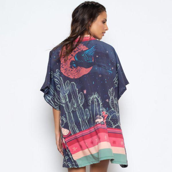 Kimono Estampado Mandacaru