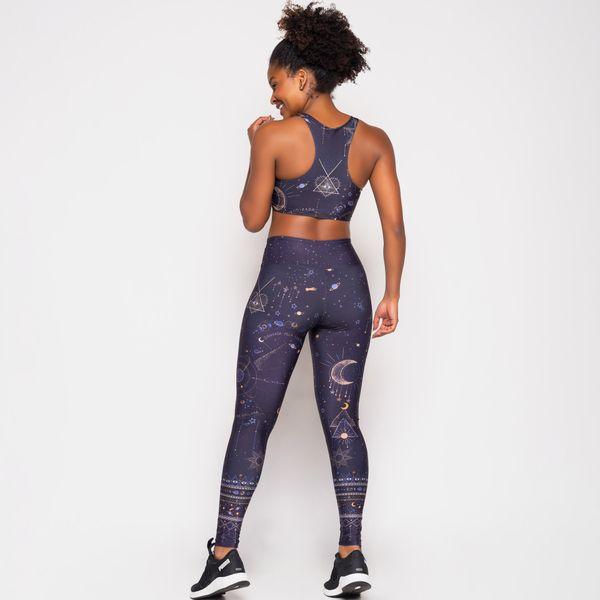 Conjunto Fitness Estampa Conexão